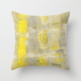 Stasis Gray & Gold 2 Throw Pillow