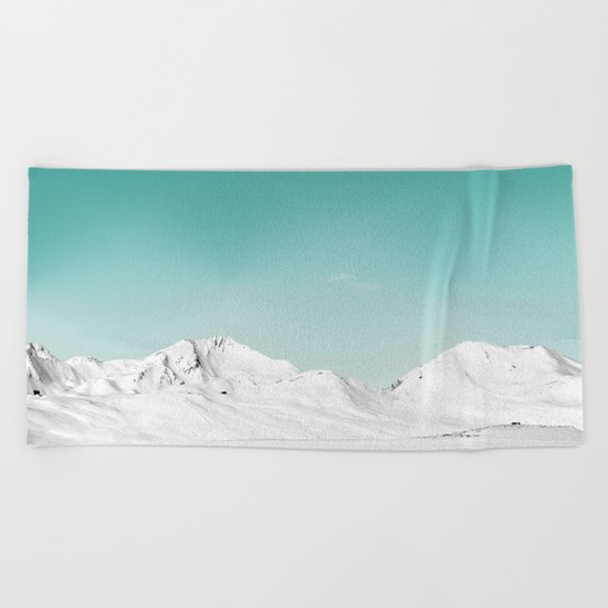 Pastel Mountain Beach Towel