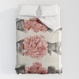 To Bloom Not Bleed  Duvet Cover