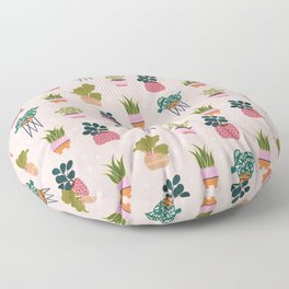 Pot Plant Pattern Floor Pillow