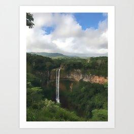 Waterfall at Black River Gorges Park Art Print