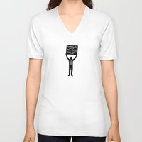 physics V-neck T-shirts featuring Occupy Physics Class by acrossTPB