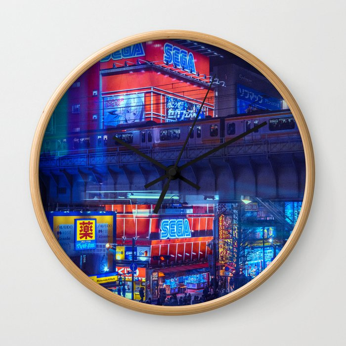 Tokyo Nights / Anime Town / Liam Wong Wall Clock