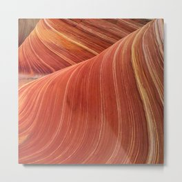 """Awesome """"The Wave"""" Close-Up in Epic Paria Wilderness Metal Print"""