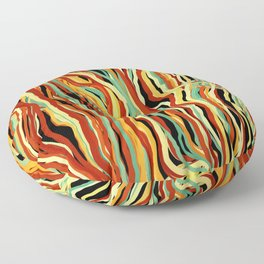 Falling Colorful Lines Floor Pillow