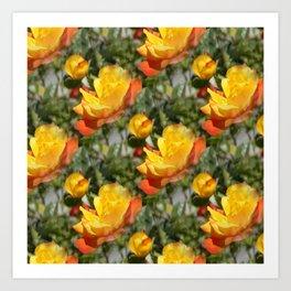 Bloomin' Gold roses... Art Print