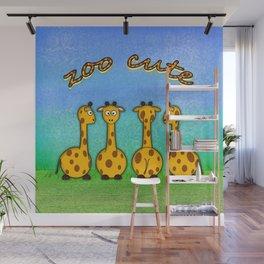 zoo cute giraffes Wall Mural