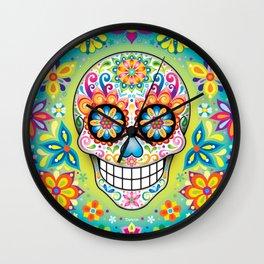 Sugar Skull Art (Jubilee) Wall Clock