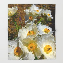 Mexican Poppies Throw Blanket