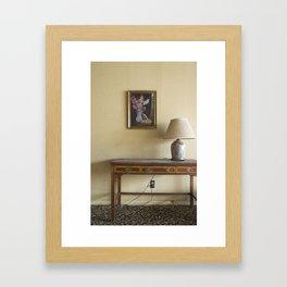 Hotel Lamp Framed Art Print