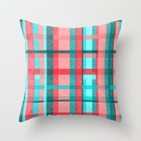 plaid Throw Pillows featuring Plaid by Nichole B.
