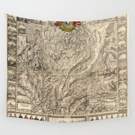 Map Of Switzerland 1750 Wall Tapestry