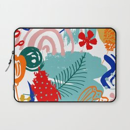 Spring Festival, Botanical, Floral Abstract Laptop Sleeve