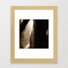 Behind the Falls Framed Art Print