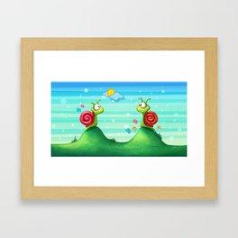 Missing snails Framed Art Print