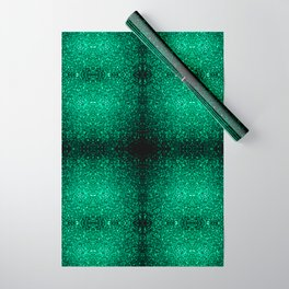 Beautiful Emerald Green glitter sparkles Wrapping Paper