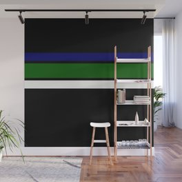 TEAM COLORS 2.....navy, green  and white Wall Mural