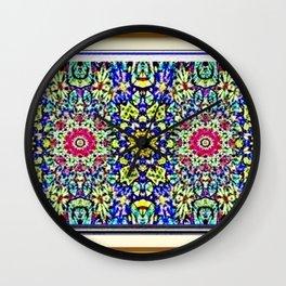 A Spring Flower Garden Wall Clock
