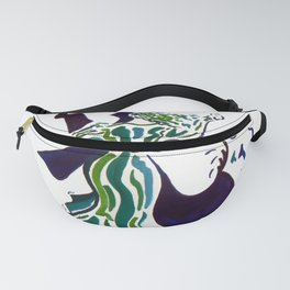 Ballroom Dancers Wave Graphic Fanny Pack