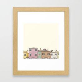 Colored Houses Framed Art Print