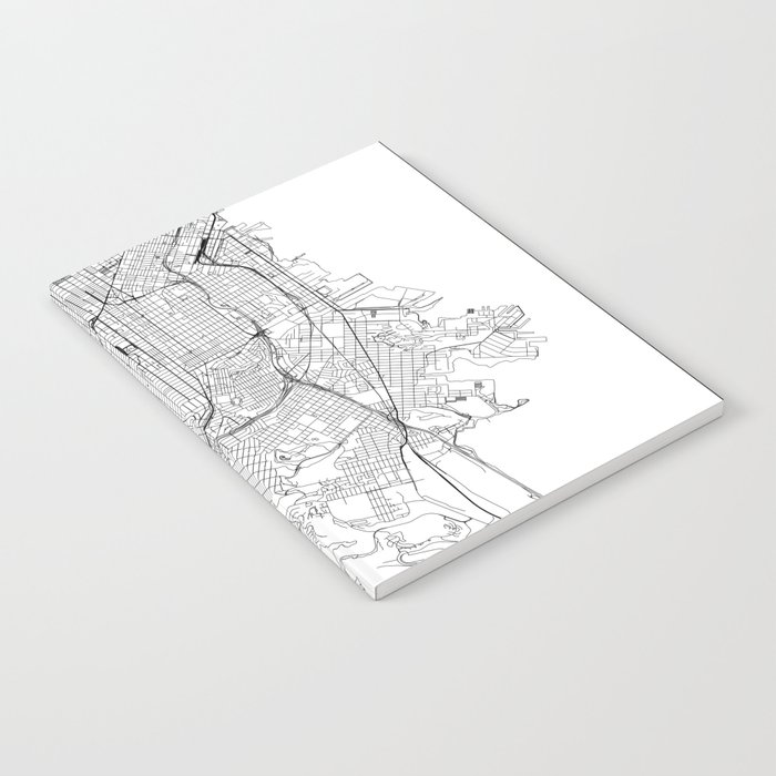 San Francisco White Map Notebook