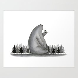 Giant Bear Art Print