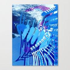 Wave blue Canvas Print