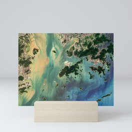 Satellite image of Hong Kong & Macao Mini Art Print