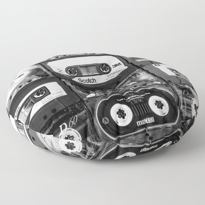 Something Nostalgic - black and white #decor #buyart #society6 Floor Pillow