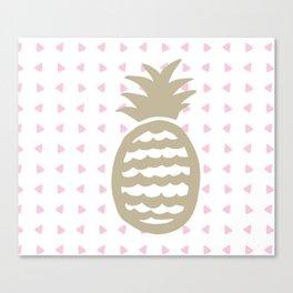 Golden pineapple pattern Canvas Print