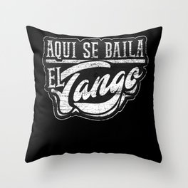 Spanish Tango Dancing Throw Pillow
