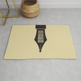 Lab No. 4 - Reading and Writing Benjamin Franklin Quotes Poster Rug
