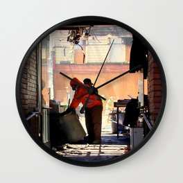 Clean-up On Aisle Two Wall Clock