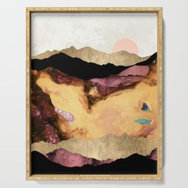 Mauve and Gold Mountains Serving Tray