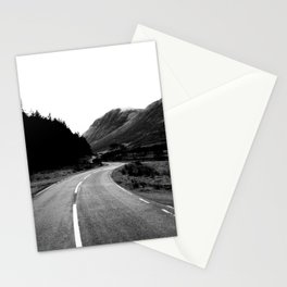 Road through the Glen - B/W Stationery Cards