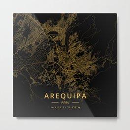Arequipa, Peru - Gold Metal Print