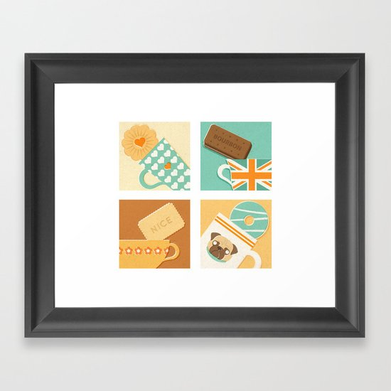 Tea and Biscuits Framed Art Print
