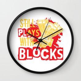 Still plays with Blocks speedshop motor V8 race Wall Clock