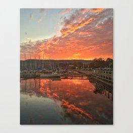 First Fall Sunrise Canvas Print