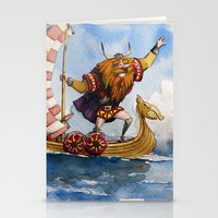 viking Stationery Cards featuring Viking by Jose Luis Ocana