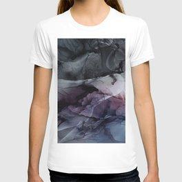Moody Dark Chaos Inks Abstract T-shirt