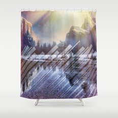 Winter Sun Rays Abstract Nature Shower Curtain