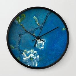 Star Magnolia Wall Clock