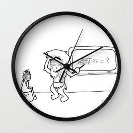 Carl Teaches Math Wall Clock