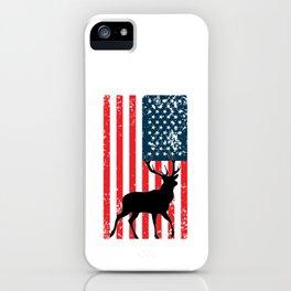 American Deer Hunter, Deer Hunting Gift, Deer Antler, Buck, 12 Pointer iPhone Case