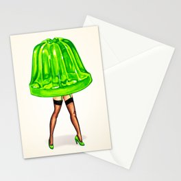 Green Jello Pin-Up Stationery Cards