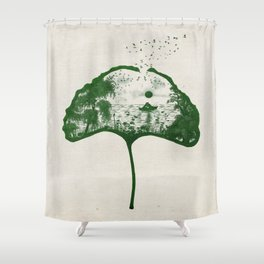 Love on the Lake Shower Curtain