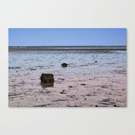 Low tide in cape cod bay Canvas Print