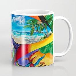 Isla del Encanto, Tainos, San Gerónimo, Condado, Puerto Rico painting-collage Coffee Mug