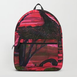 black swan in the darkness Backpack